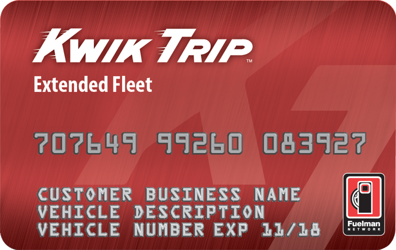 Commercial Fleet Gas Card_Kwik Trip Extended Fleet Card